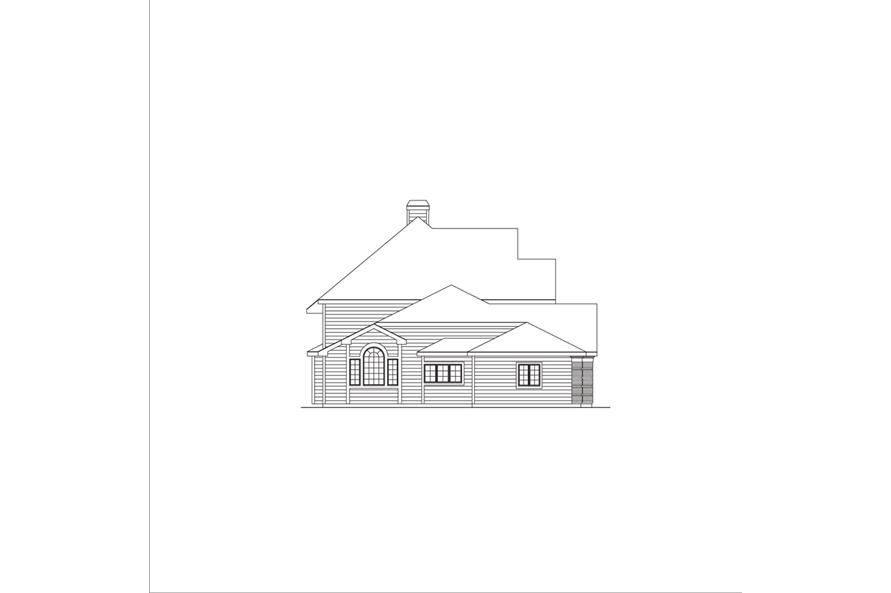 138-1047: Home Plan Left Elevation