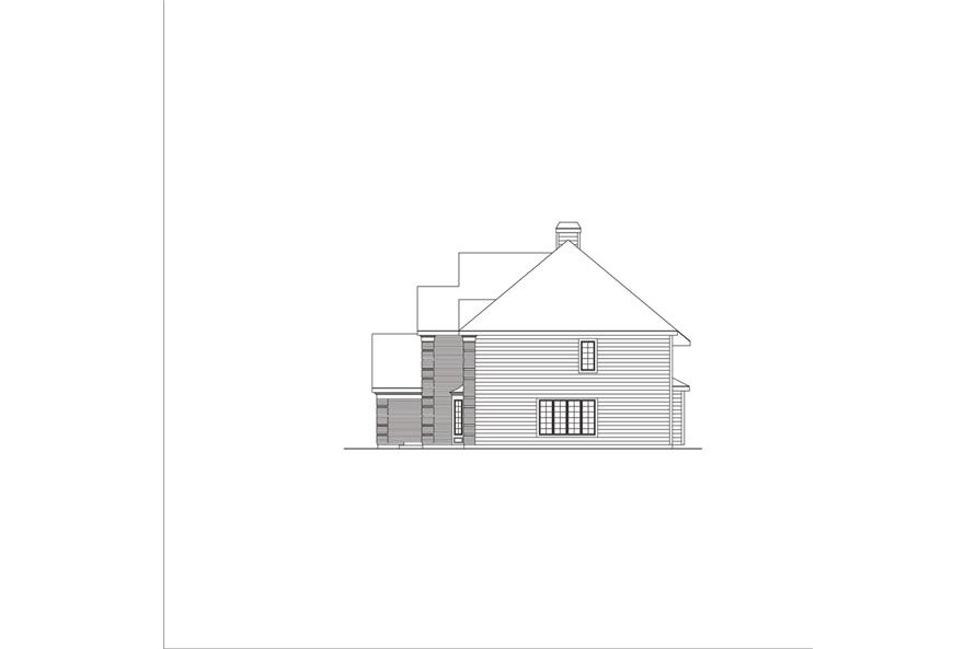 138-1047: Home Plan Right Elevation