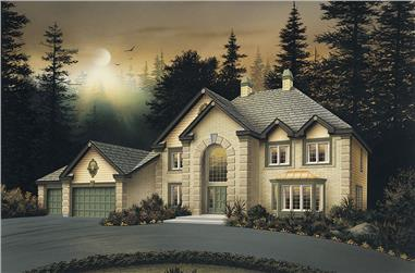 5-Bedroom, 3580 Sq Ft Traditional Home Plan - 138-1047 - Main Exterior