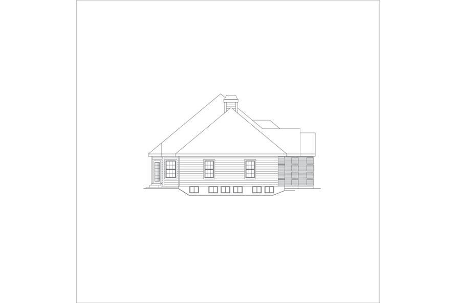 138-1048: Home Plan Left Elevation