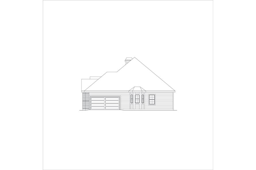 138-1048: Home Plan Right Elevation