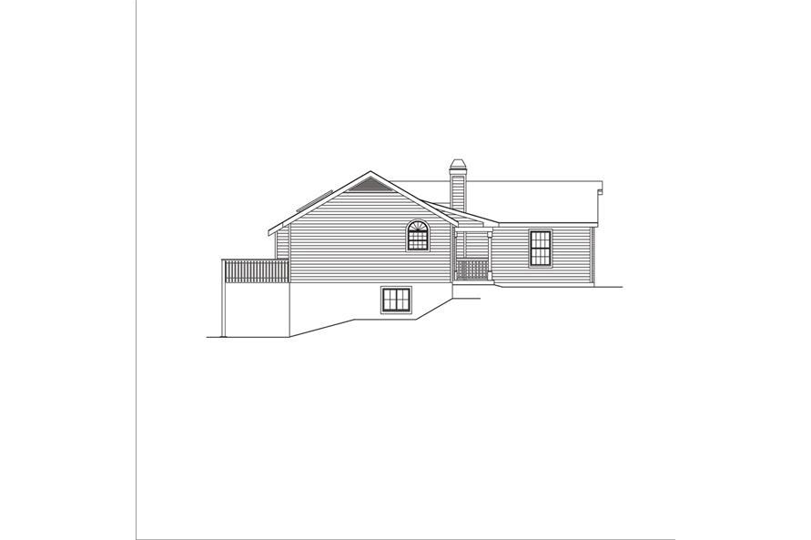138-1049: Home Plan Left Elevation