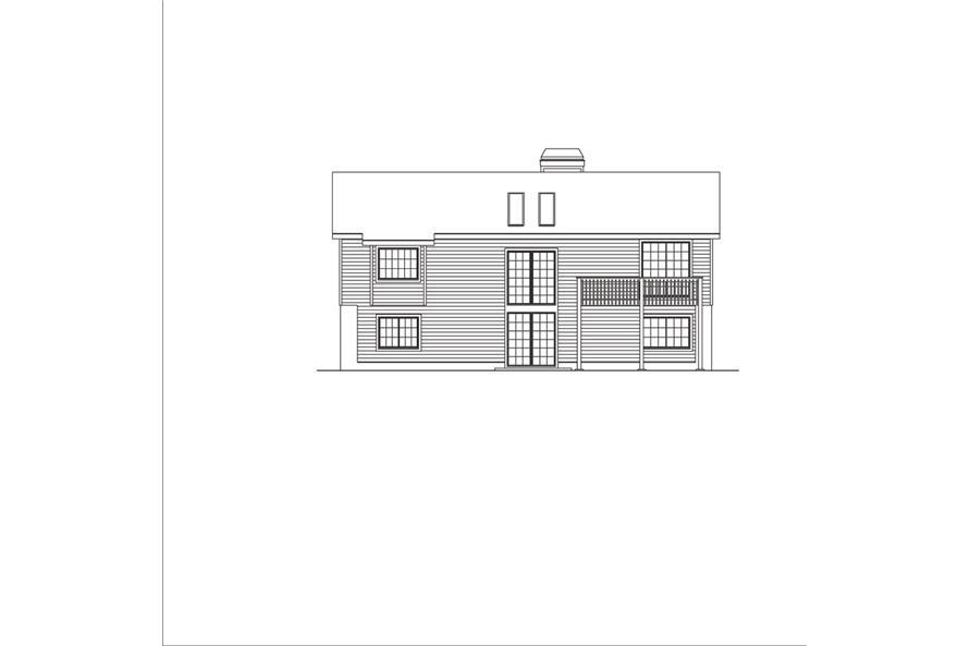 138-1049: Home Plan Rear Elevation