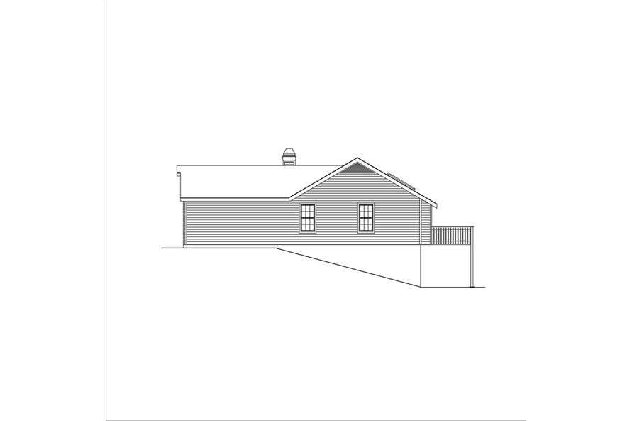 138-1049: Home Plan Right Elevation