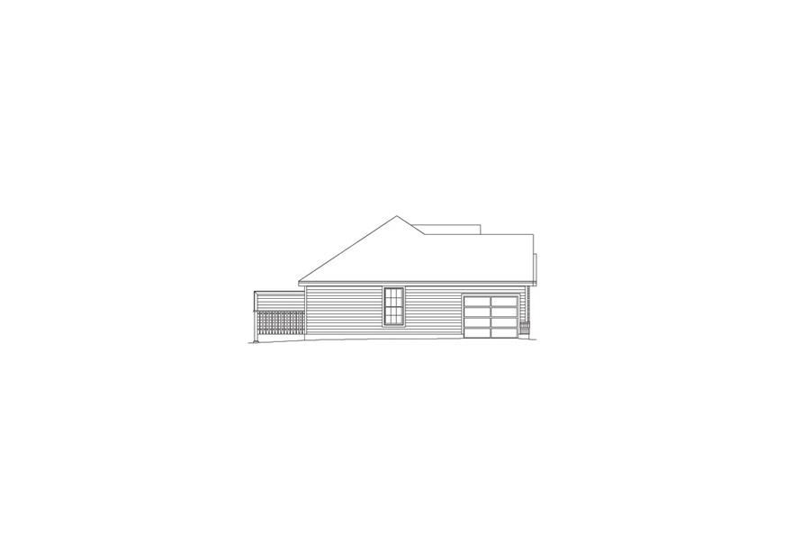 Home Plan Left Elevation of this 4-Bedroom,1700 Sq Ft Plan -138-1050