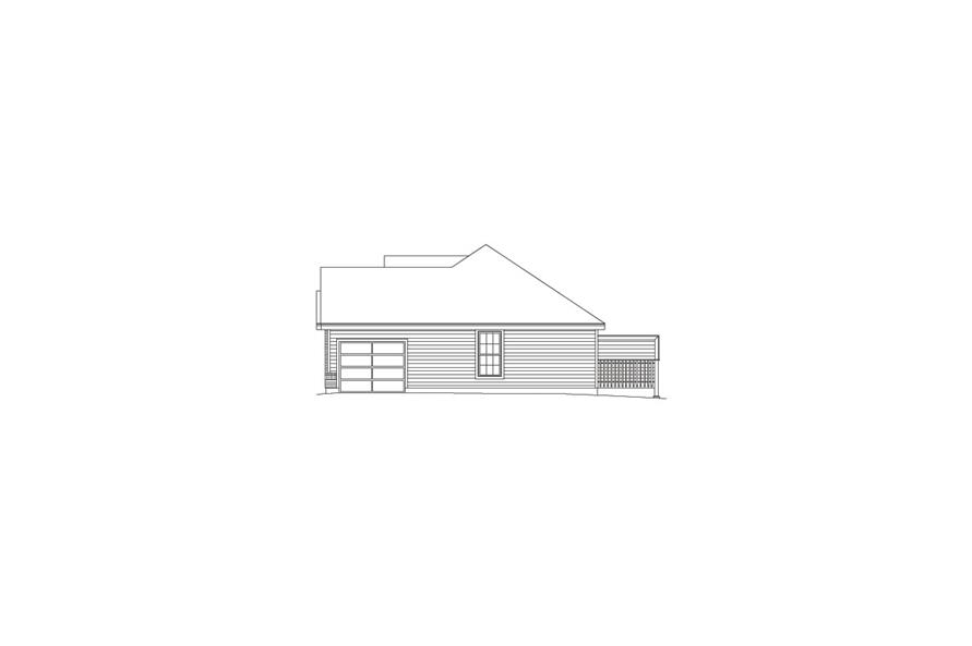Home Plan Right Elevation of this 4-Bedroom,1700 Sq Ft Plan -138-1050
