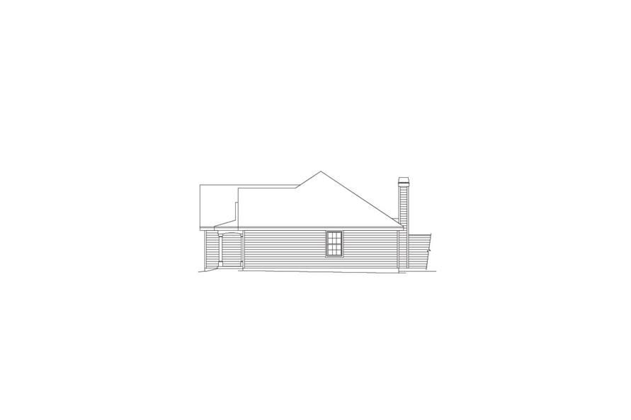 138-1051: Home Plan Right Elevation