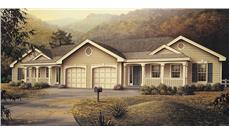 Front elevation of Multi-Unit home (ThePlanCollection: House Plan #138-1051)