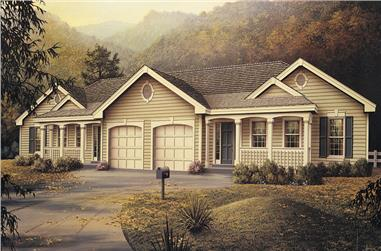 6-Bedroom, 2318 Sq Ft Multi-Unit Home Plan - 138-1051 - Main Exterior