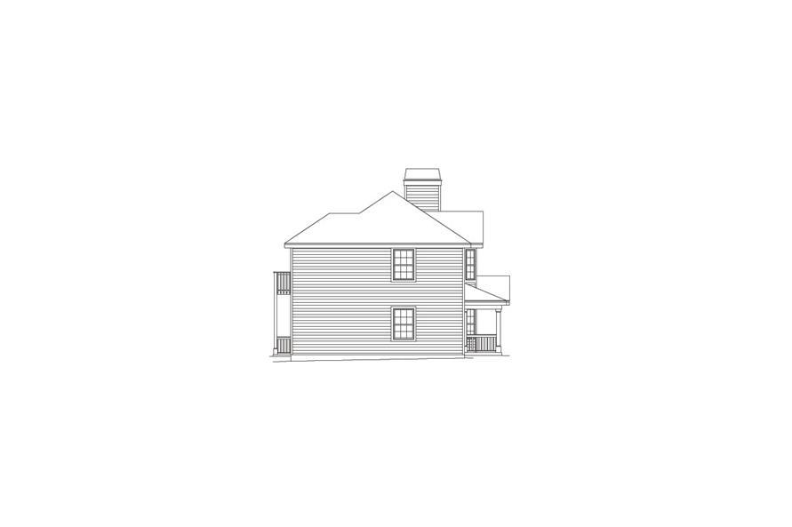 138-1052: Home Plan Left Elevation