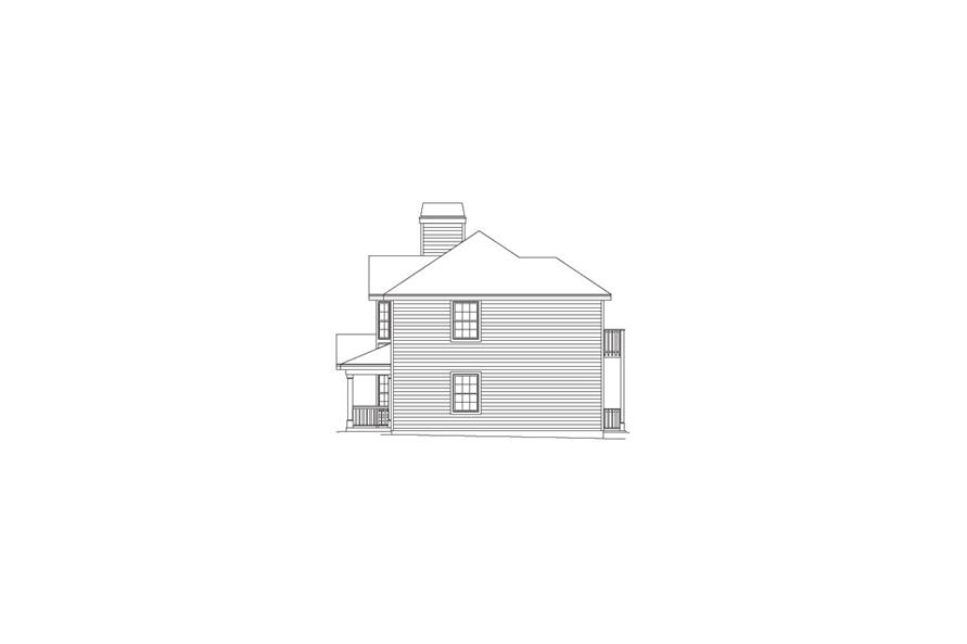 138-1052: Home Plan Right Elevation