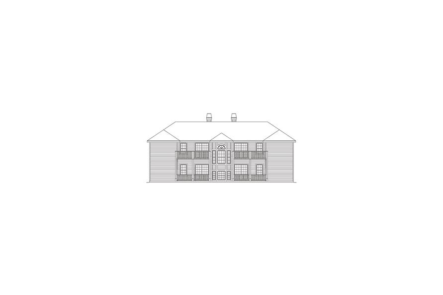138-1052: Home Plan Rear Elevation