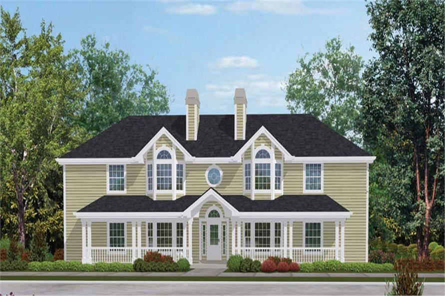 Front elevation of Multi-Unit home (ThePlanCollection: House Plan #138-1052)