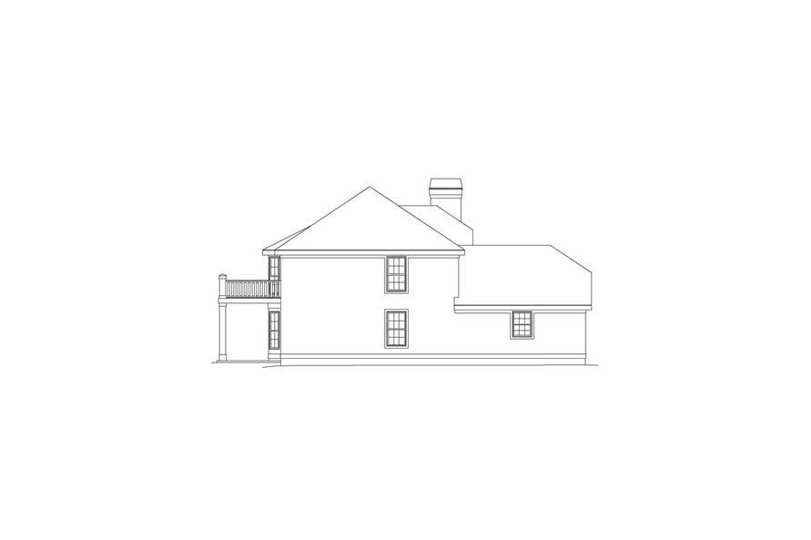 138-1053: Home Plan Left Elevation