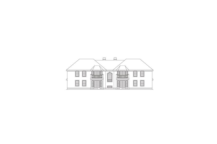 138-1053: Home Plan Rear Elevation