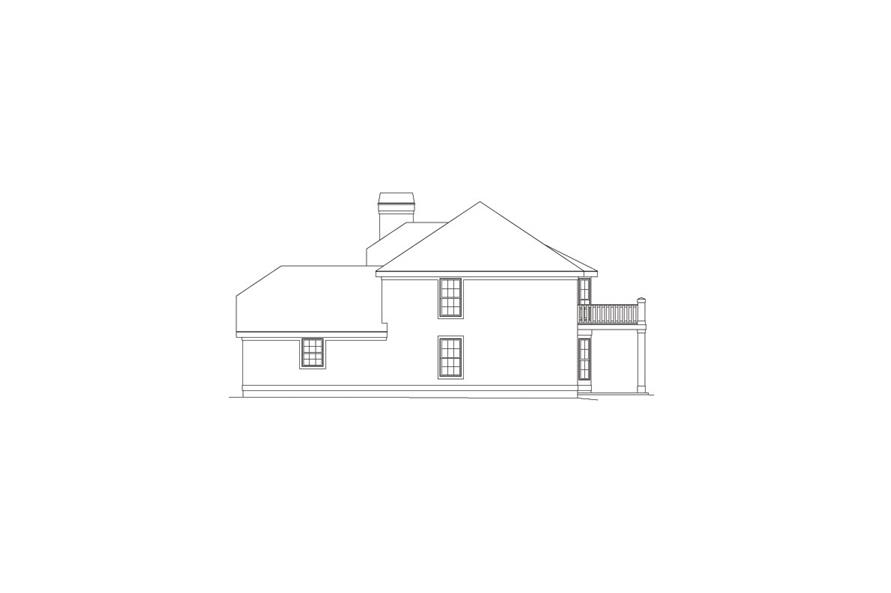 138-1053: Home Plan Right Elevation