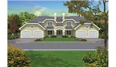 Front elevation of Multi-Unit home (ThePlanCollection: House Plan #138-1053)