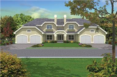 12-Bedroom, 4240 Sq Ft Multi-Unit Home Plan - 138-1053 - Main Exterior