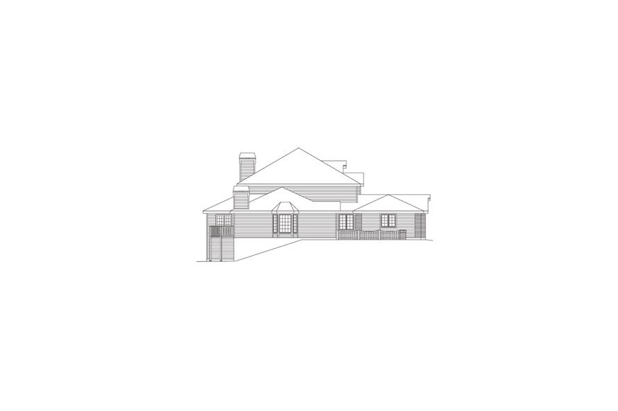 138-1054: Home Plan Left Elevation