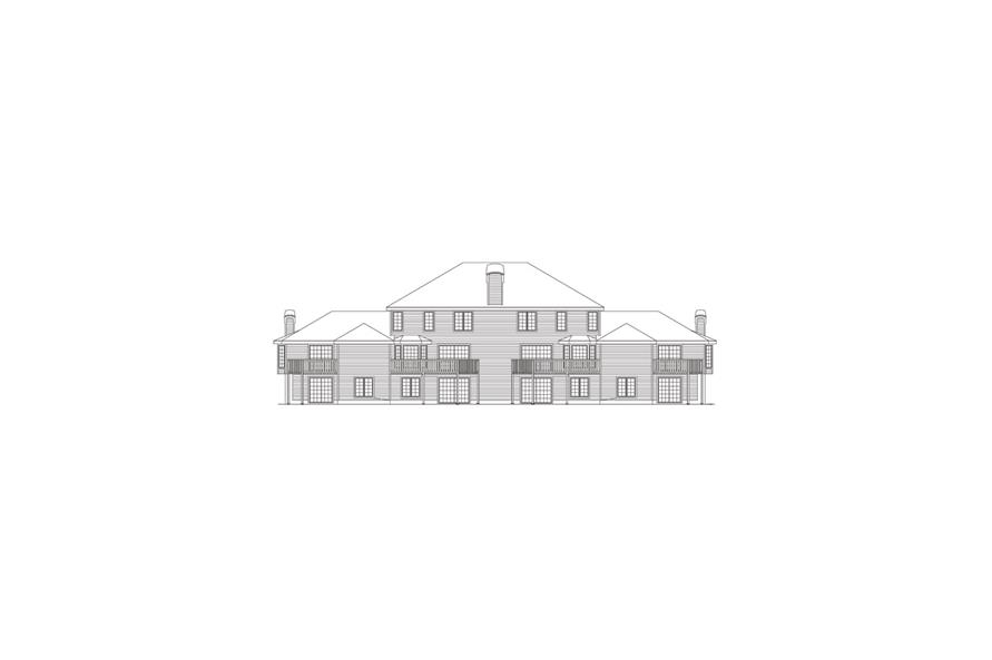 138-1054: Home Plan Rear Elevation