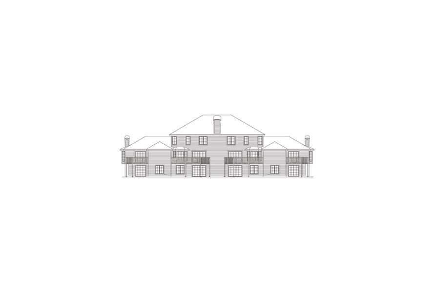 138-1054: Home Plan Rear Elevation