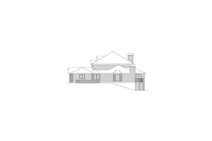 138-1054: Home Plan Right Elevation