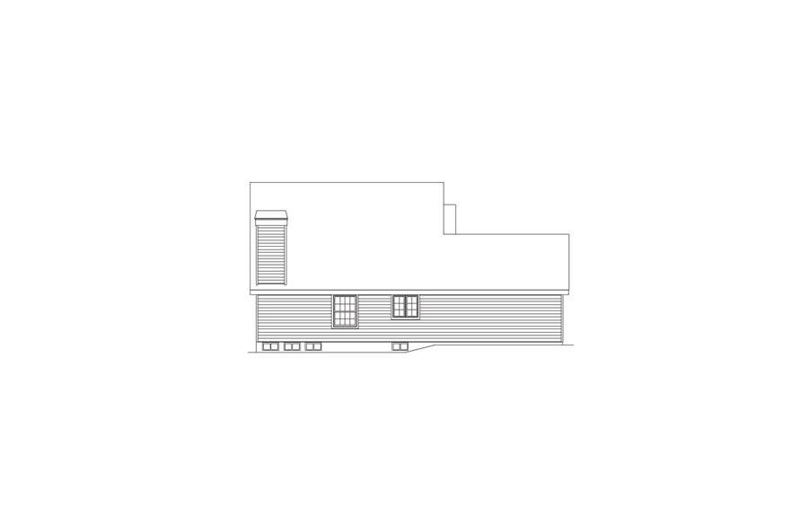 Home Plan Left Elevation of this 6-Bedroom,2986 Sq Ft Plan -138-1055