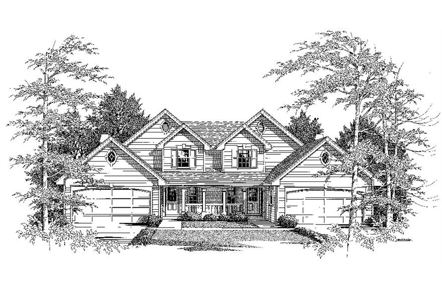 Home Plan Rendering of this 6-Bedroom,2986 Sq Ft Plan -2986
