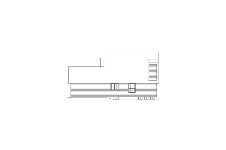 Home Plan Right Elevation of this 6-Bedroom,2986 Sq Ft Plan -138-1055
