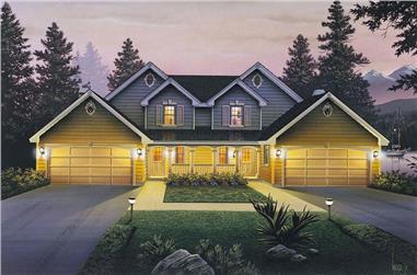 6-Bedroom, 2986 Sq Ft Multi-Unit Home Plan - 138-1055 - Main Exterior