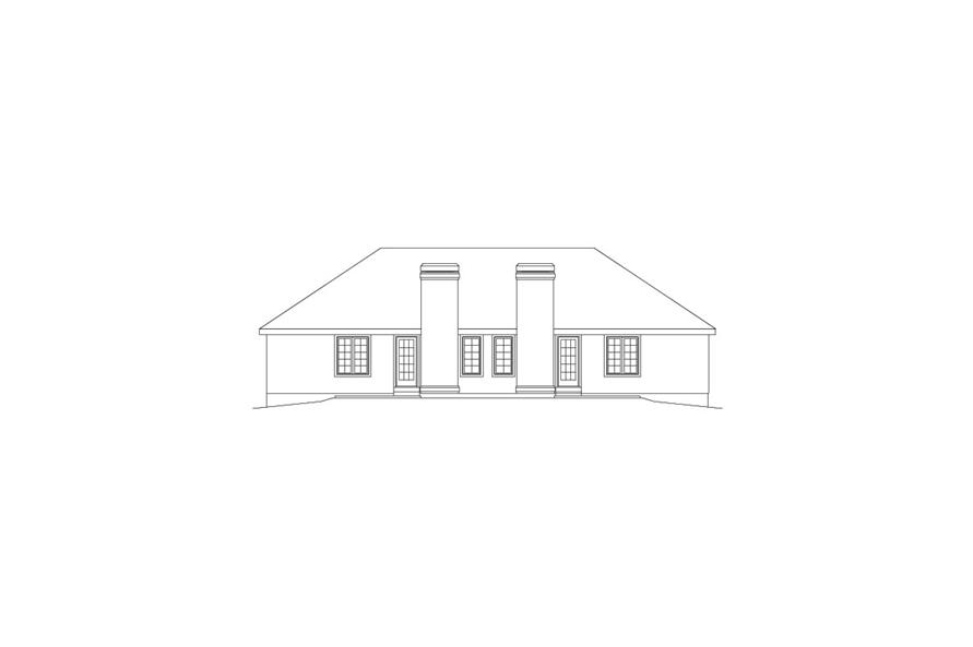 138-1056: Home Plan Rear Elevation