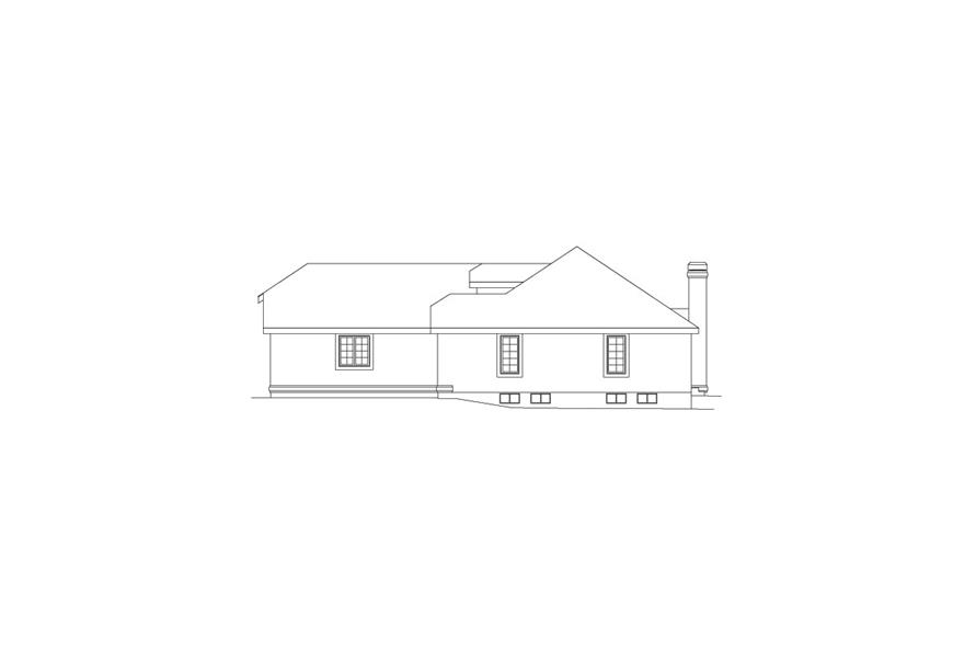 138-1056: Home Plan Right Elevation
