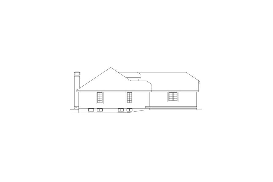 138-1056: Home Plan Left Elevation