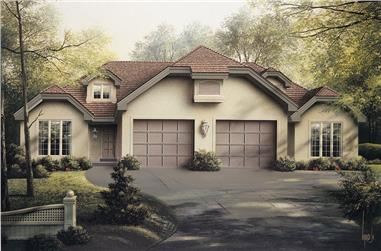 4-Bedroom, 1992 Sq Ft Multi-Unit House Plan - 138-1056 - Front Exterior