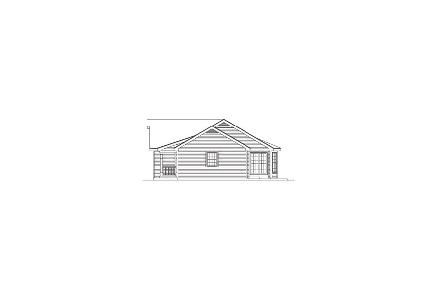138-1057: Home Plan Right Elevation