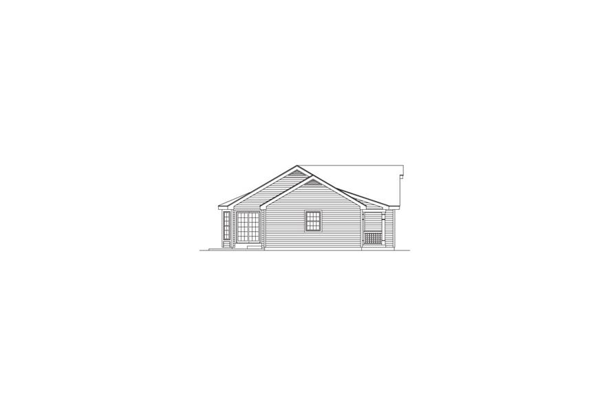 Home Plan Left Elevation of this 4-Bedroom,1704 Sq Ft Plan -138-1057