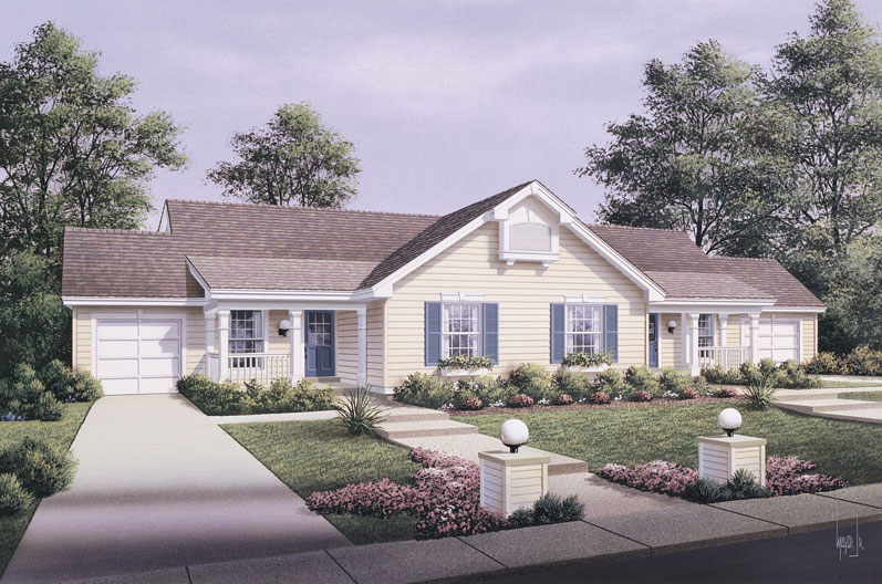 Multi unit house plan 138 1057 4 bedrm 1704 sq ft per for Multi unit house plans