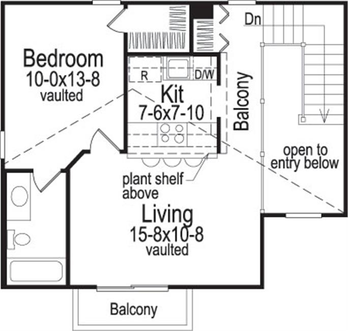 Small House Plans House Plan 1381058 1 Bedrm 654 Sq Ft Home