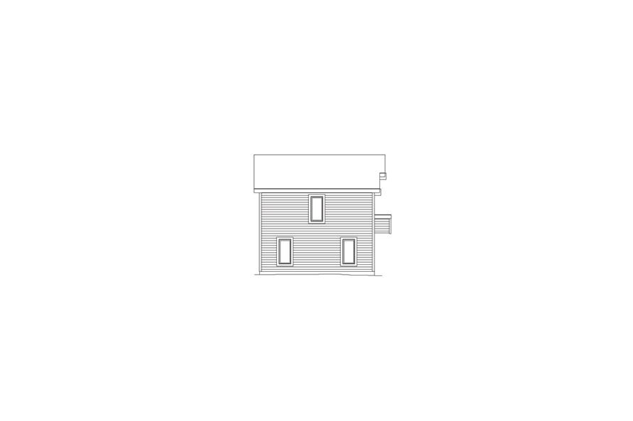 Home Plan Left Elevation of this 1-Bedroom,654 Sq Ft Plan -138-1058