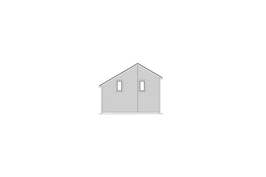 138-1058: Home Plan Rear Elevation