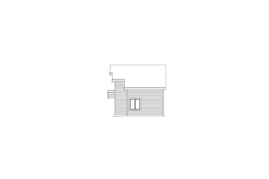 138-1058: Home Plan Right Elevation
