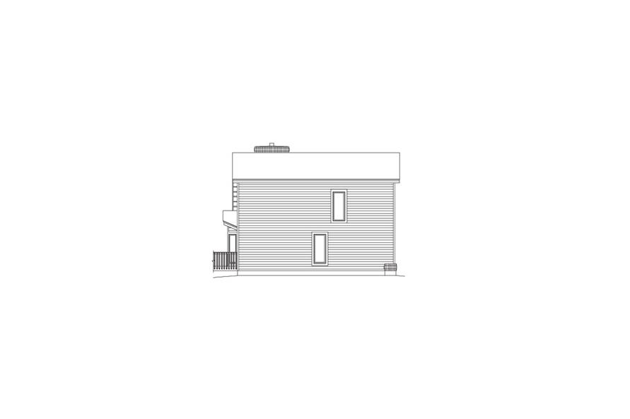 138-1059: Home Plan Left Elevation