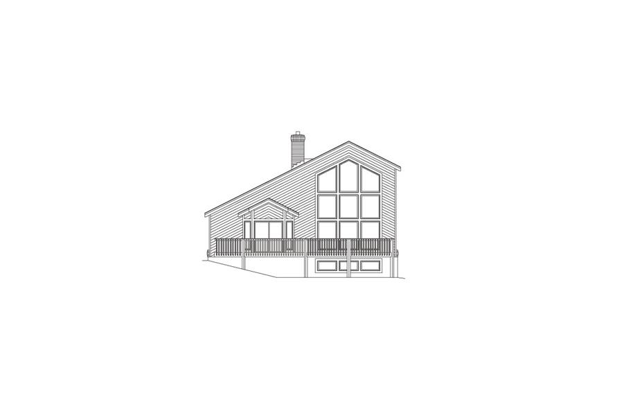 138-1059: Home Plan Rear Elevation