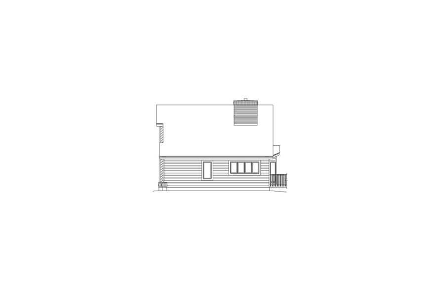 138-1059: Home Plan Right Elevation