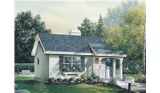 Front elevation of Small House Plans home (ThePlanCollection: House Plan #138-1060)