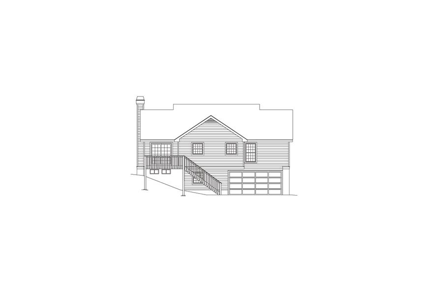 138-1061: Home Plan Rear Elevation