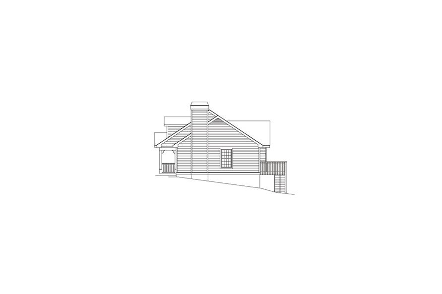 138-1061: Home Plan Right Elevation