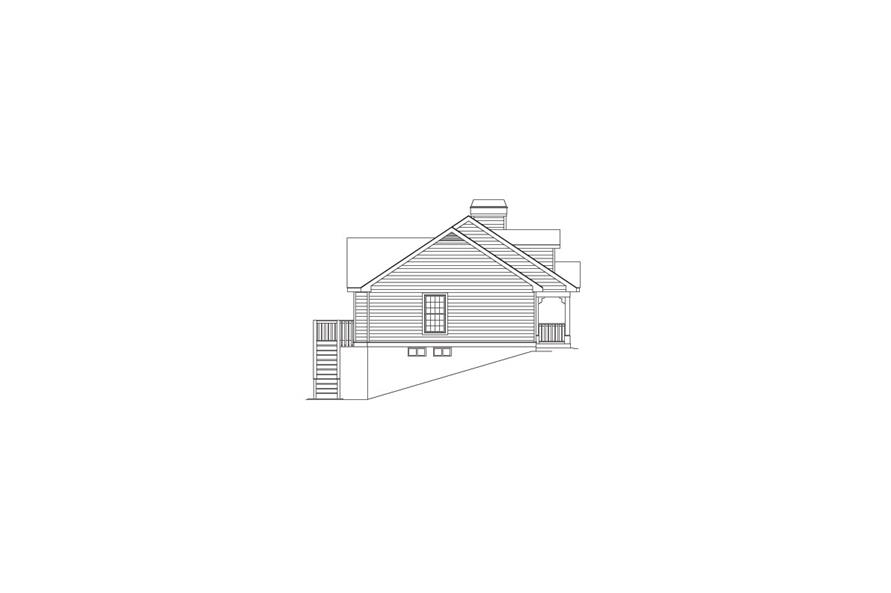 138-1061: Home Plan Left Elevation