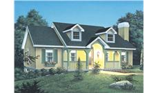 Front elevation of Cottage home (ThePlanCollection: House Plan #138-1061)