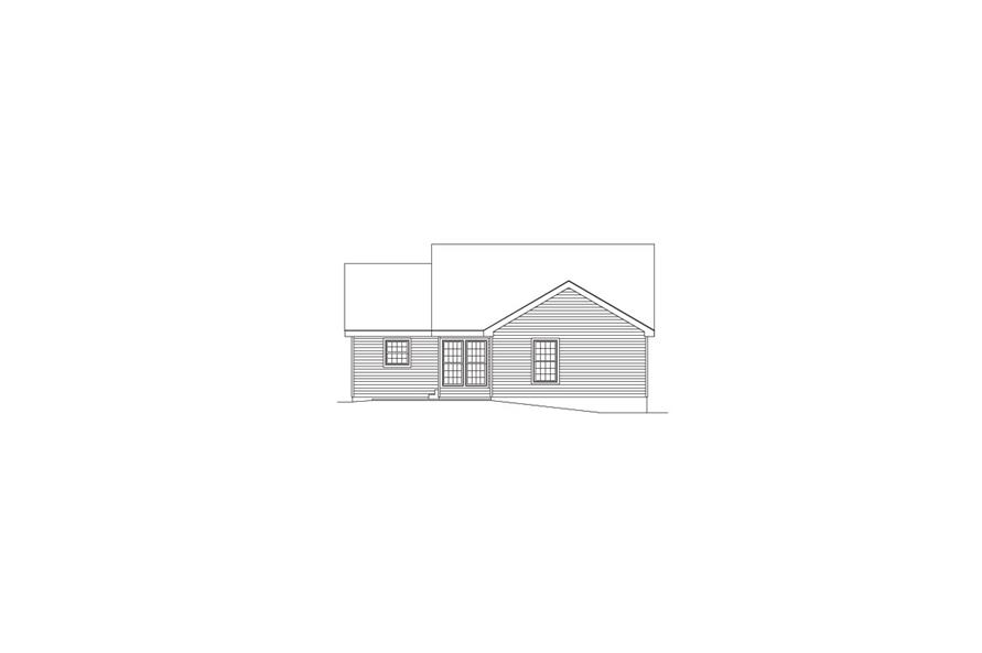 138-1062: Home Plan Rear Elevation